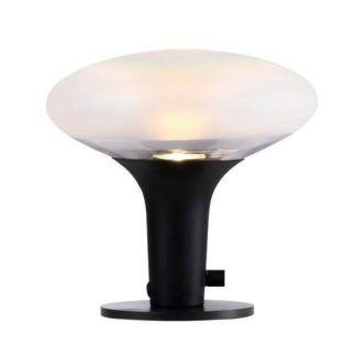Nowoczesna lampa stołowa Dee 2.0 - Nordlux - DFTP - szklany klosz, czarna podstawa