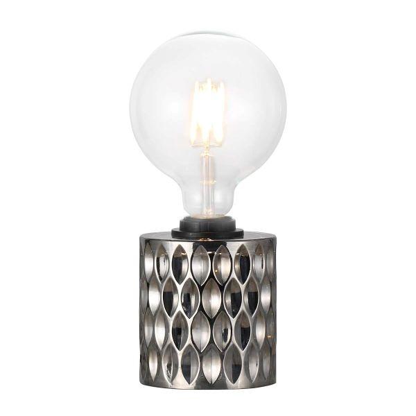 lampa stołowa minimalistyczny design, dekoracyjne szkło kolorowe - aranżacja
