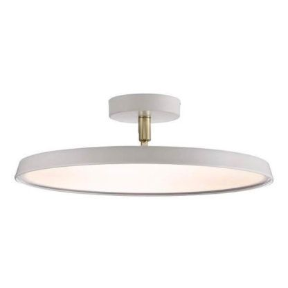 duża lampa sufitowa, nowoczesna, płaski klosz