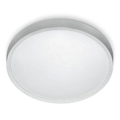 okrągły, biały plafon LED