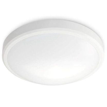 nowoczesny, biały plafon okrągły, LED