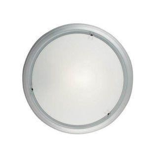 Lampa sufitowa Frisbee - Nordlux - aluminiowa rama, mleczny dyfuzor