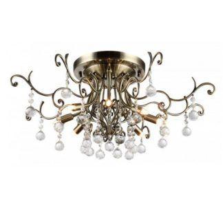 Elegancka lampa sufitowa Frost - złoto-brązowe wykończenie