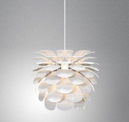 lampa wisząca designerska, duża, z białych płatków