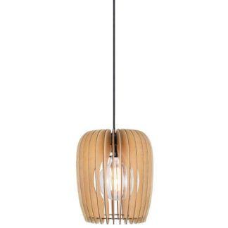 Oryginalna lampa wisząca Tribeca 24 - Nordlux - ażurowy, drewniany klosz