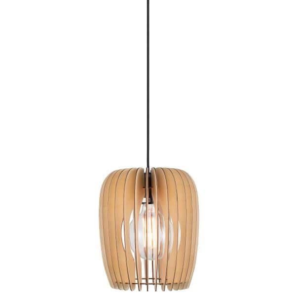 lampa wisząca scandi z drewnianych elementów