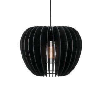 Oryginalna lampa wisząca Tribeca 38 - Nordlux - drewniana, czarna
