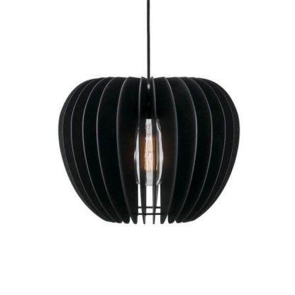 ażurowa lampa wisząca skandynawska, czarna