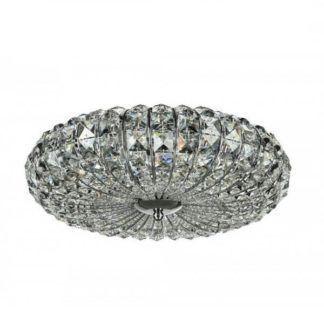 Efektowny plafon Broche - glamour, kryształki