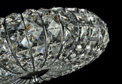 owalny, kryształowy plafon luksusowy