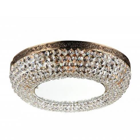 Luksusowy plafon Luna - kryształki, złoty