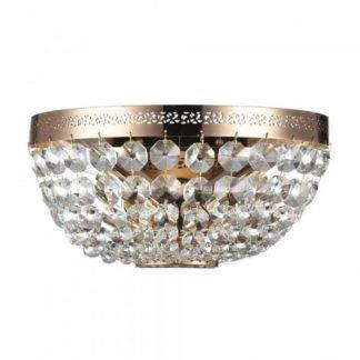 Złoty plafon Ottilia - Maytoni - kryształki, glamour