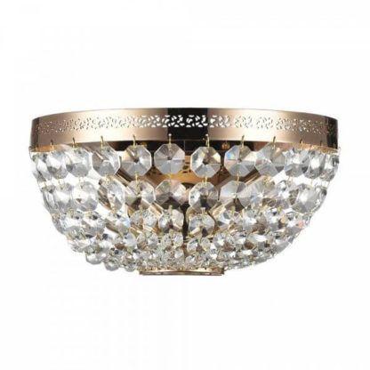 złoty, kryształowy plafon