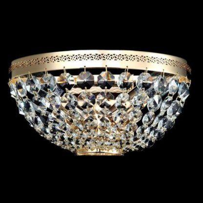 kryształowy, klasyczny plafon z kryształkami
