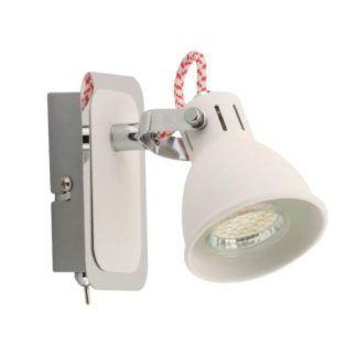 Biały kinkiet Rava - Zuma Line - metalowy reflektor