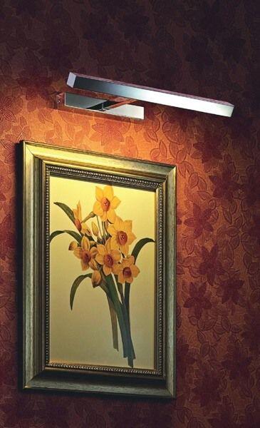 prosty kinkiet do oświetlenia obrazów - aranżacja