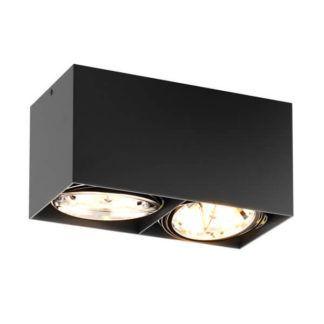 Czarna lampa sufitowa Box - Zuma Line - dwa źródła światła