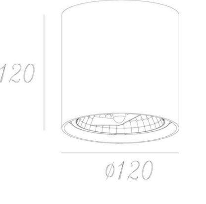 nowoczesne oczko sufitowe, tuba