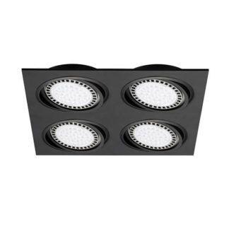 Czarna lampa sufitowa Boxy - Zuma Line - cztery oczka