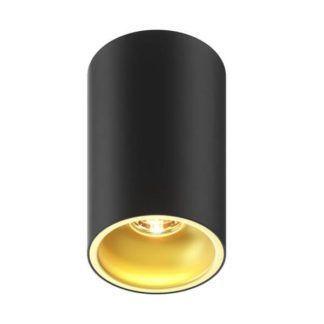 czarna tuba sufitowa ze złotym środkiem