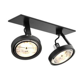 Nowoczesna lampa sufitowa Gino - Zuma Line - czarne reflektory