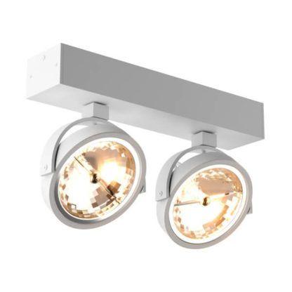 biała lampa sufitowa z okrągłymi kloszami, styl skandynawski, nowoczesny