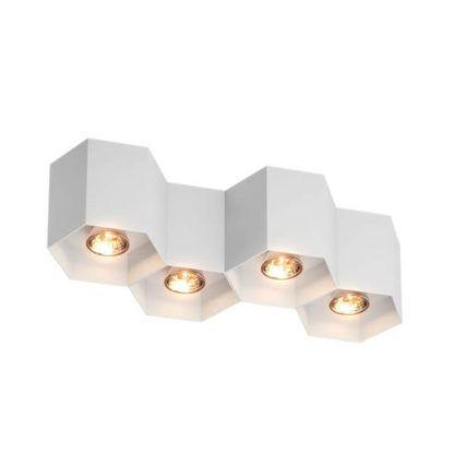 lampa sufitowa plaster miodu, biała