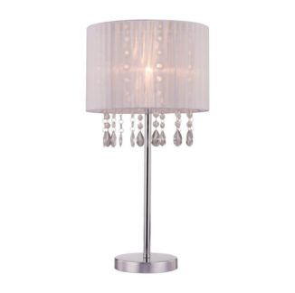 Elegancka lampa stołowa Leta - Zuma Line - kryształki, glamour