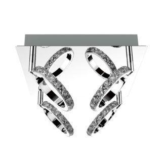 Efektowna lampa sufitowa Toledo - Zuma Line - srebrna, kryształki
