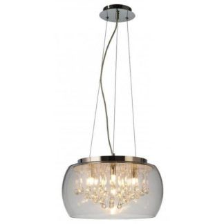Lampa wisząca Luce – szklany klosz, nowoczesna