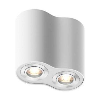 Designerskie oczko sufitowe Rondoo - Zuma Line - dwa punkty świetlne, białe