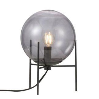 Lampa stołowa Alton - szara kula ze szkła