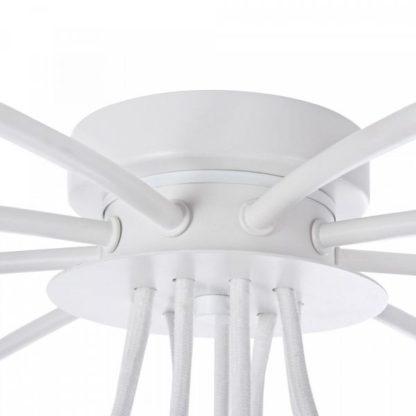 biały żyrandol nowoczesny
