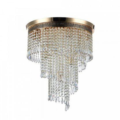 efektowny luksusowy żyrandol, kaskadowe kryształy