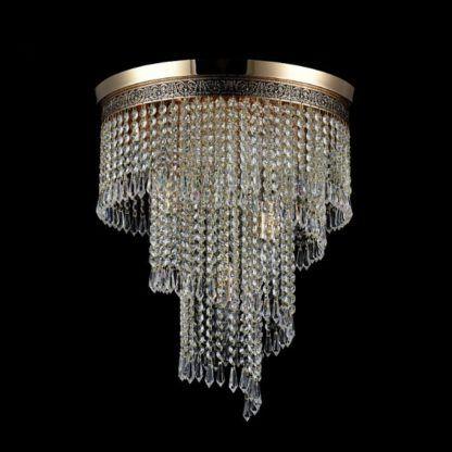 lampa sufitowa luksusowa, kaskada kryształów