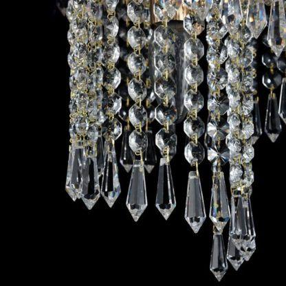 zwisy kryształów, żyrandol luksusowy
