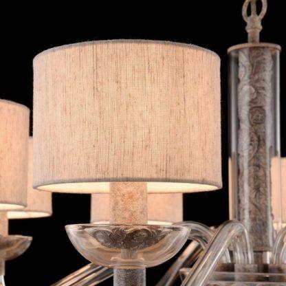 efektowny żyrandol z abażurami, modern classic