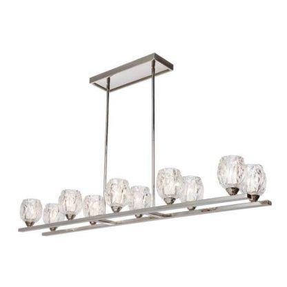 długa lampa wisząca ze szklanymi kloszami, styl glamour, elegancki, klasyczny