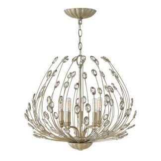 Luksusowy żyrandol Tulah - złoty, dekoracyjne kryształki