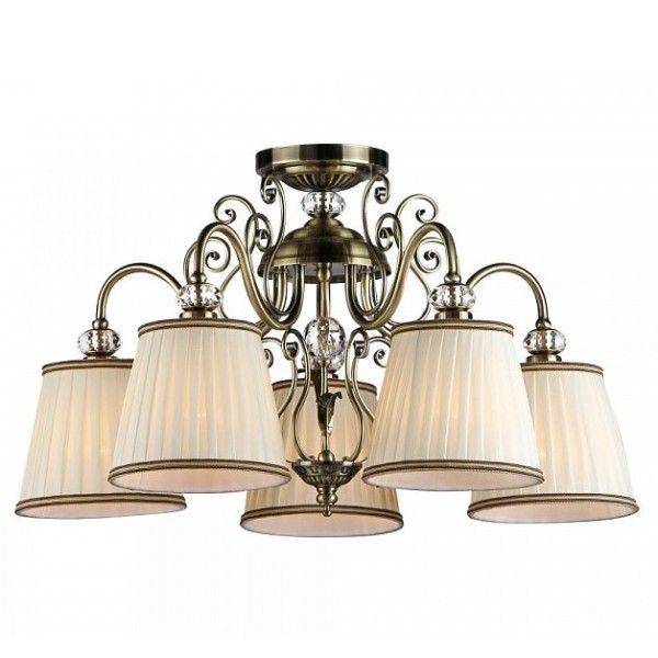 elegancki żyrandol ze zdobną podstawą w stylu klasycznym, brązowy, jasne abażury