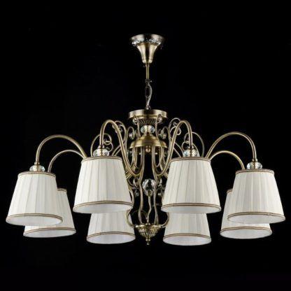 metalowy żyrandol w stylu klasycznym, brązowy