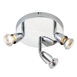 Lampa sufitowa Amalfi - srebrne reflektory, nowoczesna