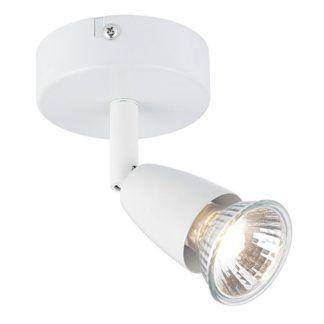 Pojedyncza lampa sufitowa Amalfi - metalowa, biały reflektor