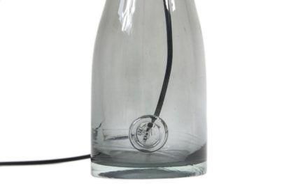 szklana lampa stołowa w stylu skandynawskim, barwione szkło