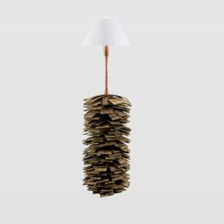 Lampa podłogowa Shingle Big - drewniana