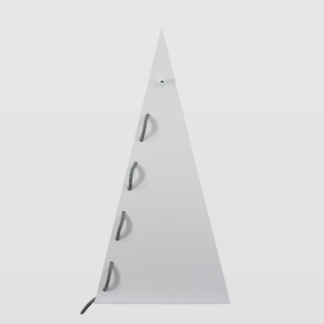 nowoczesna, biała lampa stołowa - aranżacja sypialnia