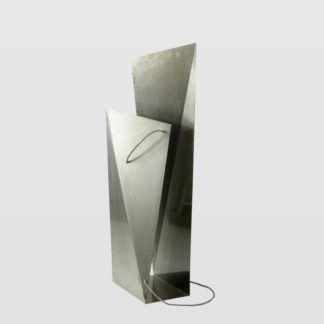 Lampa podłogowa Tower Big Raw - stalowa, srebrna