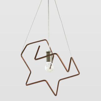 Lampa wisząca Spider - miedziana, designerski kształt