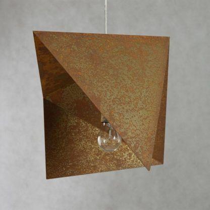 lampa wisząca, metalowa, industrialna