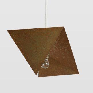 Lampa wisząca Rust Bird II - geometryczny klosz